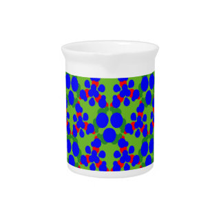 Pitcher with Blue Green Red Balls Design