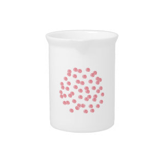 Pitcher with red polka dots