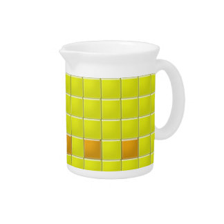 Pitcher - Yellow Squares in Mosaic