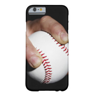 Pitchers hand gripping a baseball barely there iPhone 6 case