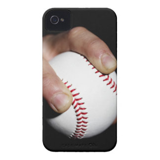Pitchers hand gripping a baseball iPhone 4 cover