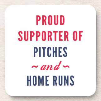 Pitches And Home Runs Beverage Coaster