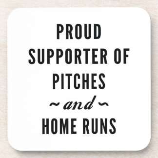 Pitches And Home Runs Coaster