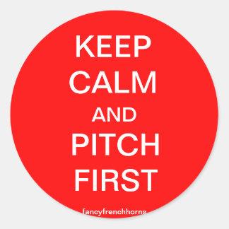 PitchFirststicker Classic Round Sticker