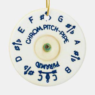 Pitchpipe Ceramic Ornament