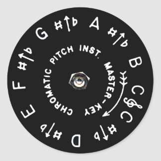 Pitchpipe Classic Round Sticker