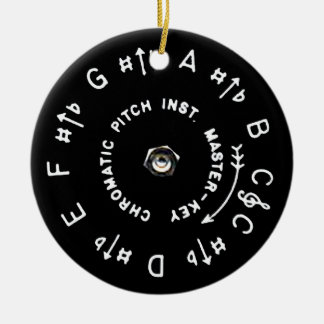 Pitchpipe Double-Sided Ceramic Round Christmas Ornament