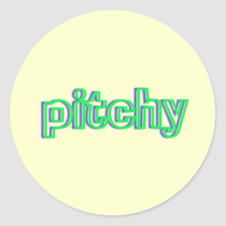 pitchy classic round sticker