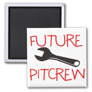 Pitcrew futuro imán cuadrado