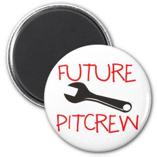 Pitcrew futuro imán redondo 5 cm