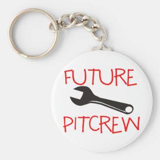 Pitcrew futuro llavero redondo tipo pin