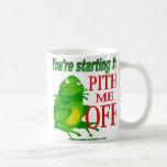 Pithed off frog 2 coffee mugs