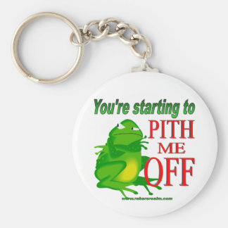 Pithed off frog 2 keychain