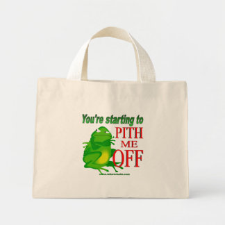 Pithed off frog 2 mini tote bag