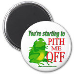 Pithed off frog 2 refrigerator magnet