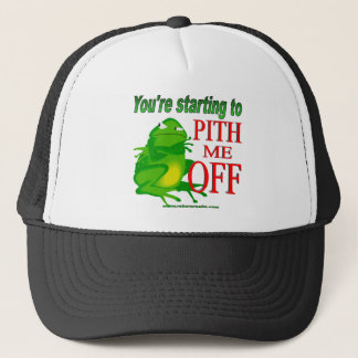 Pithed off frog 2 trucker hat