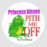 Pithed off frog classic round sticker