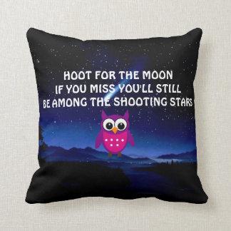 PITIDO para la almohada de tiro del búho de la lun