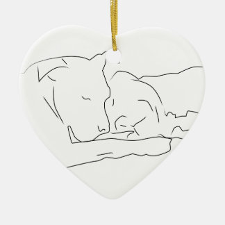 Pitifully in Love Ceramic Ornament