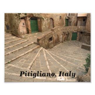 Pitigliano Italy Green Doors Photo Print