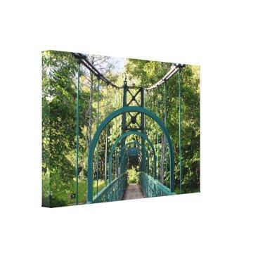 franwestphotography Pitlochry suspension bridge, Scotland Canvas Print