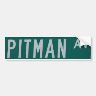 Pitman Ave bumper sticker