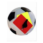 pito de tarjeta de pelota postal