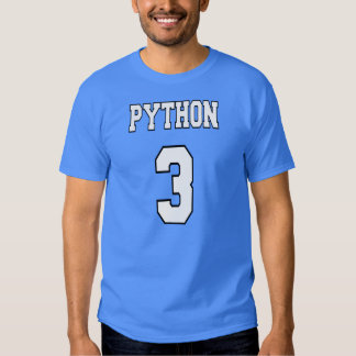 Pitón 3: Blanco/diseño azul para los programadores Playera