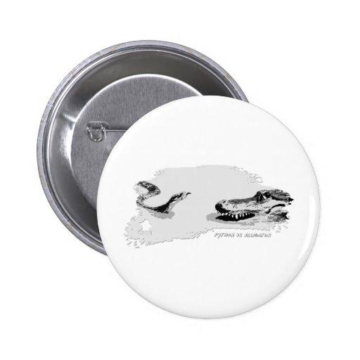 Pitón contra el gris 02 del cocodrilo pin
