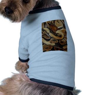 pitón de la bola de los amantes de la serpiente camiseta con mangas para perro