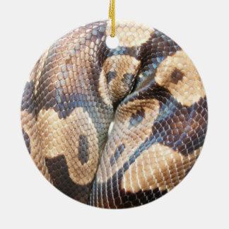Pitón de la bola adorno redondo de cerámica