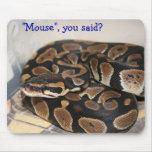 Pitón de la bola interesado en ratón alfombrillas de ratón