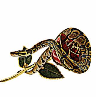 Pitón de la escultura de la foto de la serpiente fotoescultura vertical