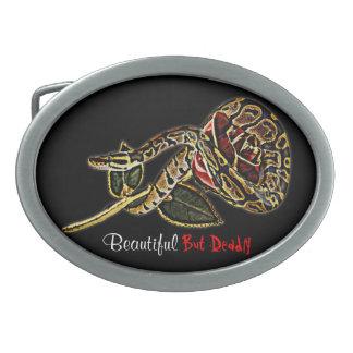 Pitón de la hebilla del cinturón de la serpiente hebillas de cinturón ovales