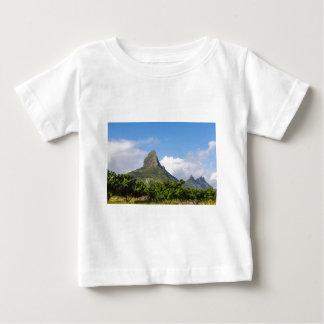 Piton de la Petite mountain in Mauritius panoramic Baby T-Shirt