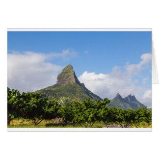 Piton de la Petite mountain in Mauritius panoramic Card