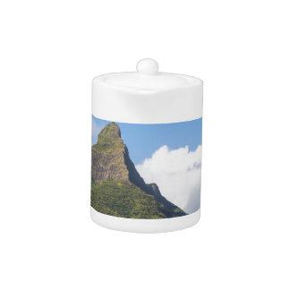 Piton de la Petite mountain in Mauritius panoramic Teapot