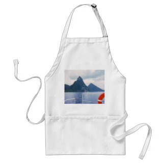 Pitons from the Sea Apron