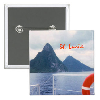 Pitons from the Sea Button