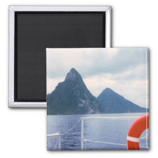 Pitons from the Sea Magnet