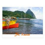 Pitons, Soufriere St Lucia Tarjeta Postal