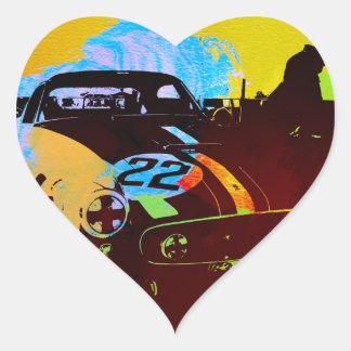 Pits Laguna Seca Heart Stickers