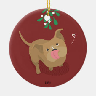 Pits, Love, & Joy Ceramic Ornament
