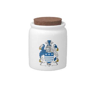 Pitt Family Crest Candy Jar