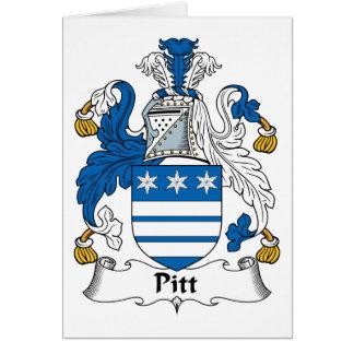 Pitt Family Crest Cards