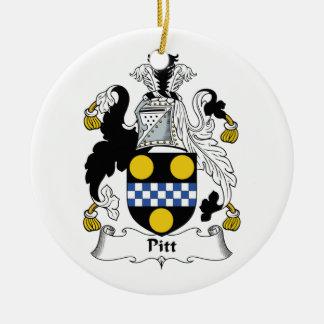 Pitt Family Crest Ceramic Ornament