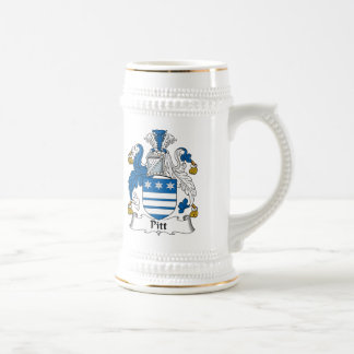 Pitt Family Crest Coffee Mugs