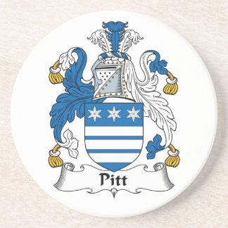Pitt Family Crest Drink Coasters