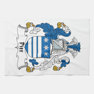 Pitt Family Crest Hand Towel