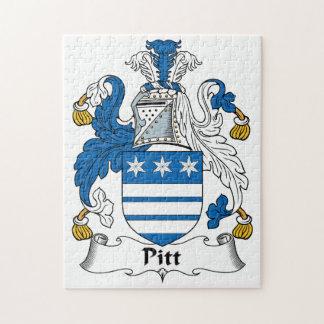 Pitt Family Crest Jigsaw Puzzle